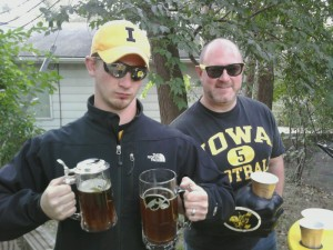 Friends Tailgating with Homebrew